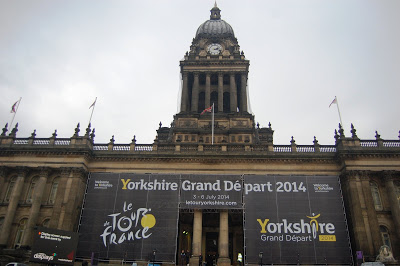 Leeds Town Hall new Tour de France banner