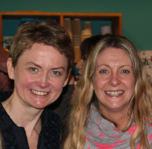 Julie with Yvette Cooper