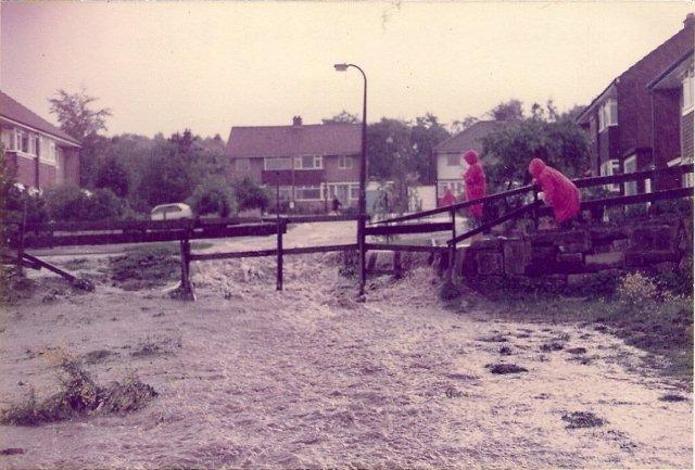 Flash flood of the area in 1982